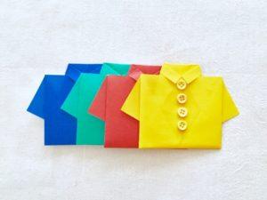 カラー別シャツ