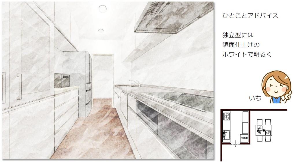 独立型キッチンスタイル