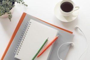 勉強のノートと鉛筆