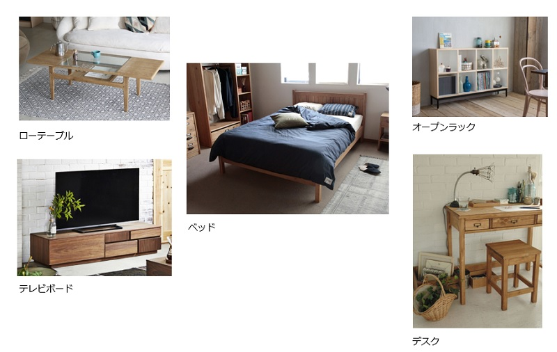 ワンルームの家具