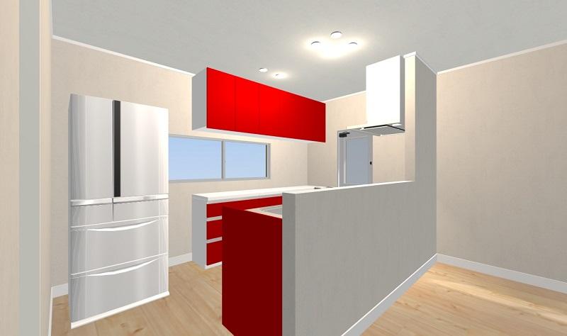 対面キッチンの冷蔵庫位置は?