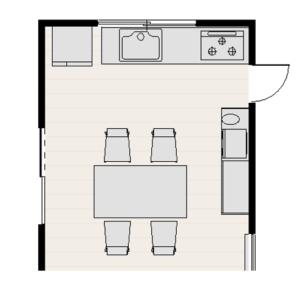 キッチン間取り,冷蔵庫の位置