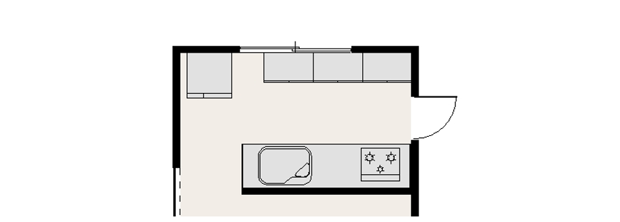 キッチンレイアウト冷蔵庫の位置