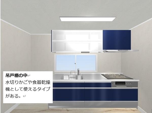 キッチンの中身の仕様がいろいろある,水切りタイプ